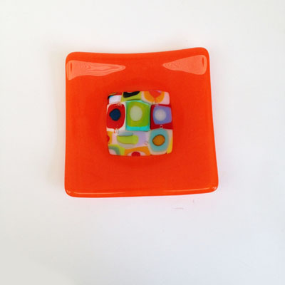 Bright Orange dish 116 SOLD