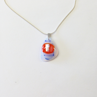 Orange and blue pendant 273 NEW