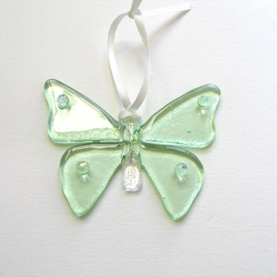 Pale green butterfly 080 SOLD