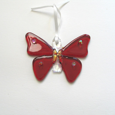 Red butterfly 083 SOLD