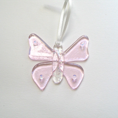 Pale pink butterfly 084 NEW