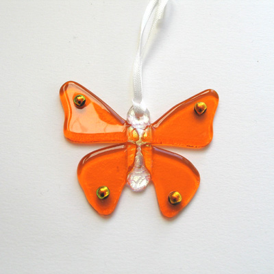 Bright orange butterfly 085 SOLD