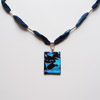 Blue ribbon necklace 255
