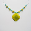Yellow & Aqua Necklace 239