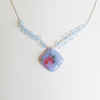Blue Rose Necklace 242