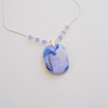 Blue and lilac necklace 259 NEW