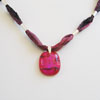 Crimson ribbon necklace 265 NEW