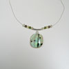 Sparkly Green Necklace 267 NEW
