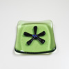 Green & Black Flower Ringtray 127 NEW