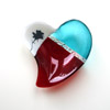 Red & turquoise heart 082